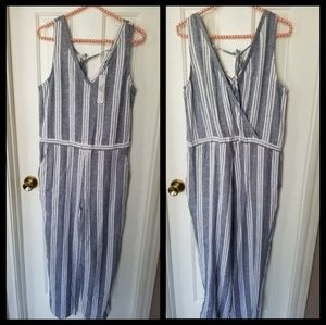Anthropologie Drew linen jumpsuits